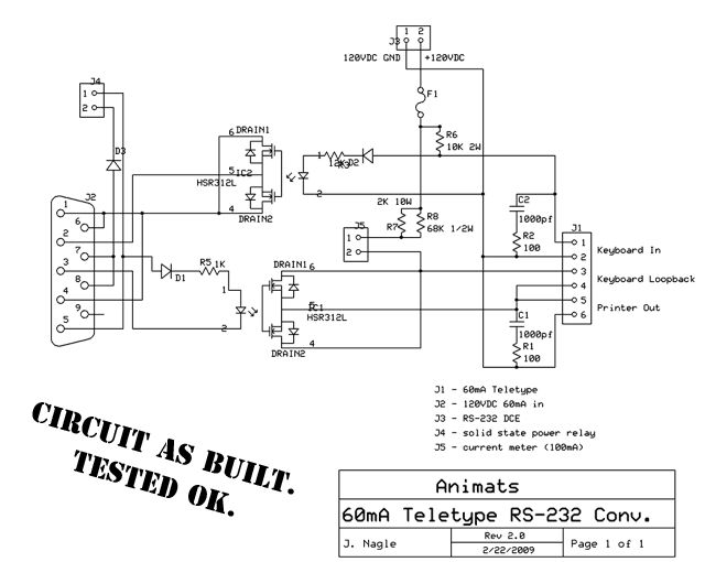 connecting a teletype model 15 to a personal computer